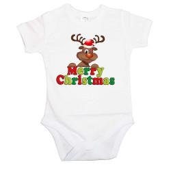 Бебешко боди Коледа Merry Christmas Deer