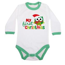 Бебешко боди Коледа My first Christmas OWL
