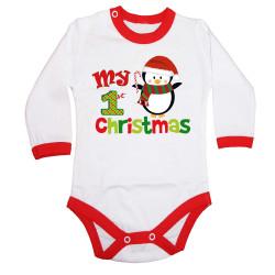 Бебешко боди Merry Christmas Penguin