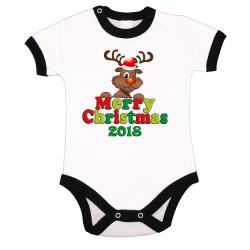 Бебешко боди Коледа Merry Christmas 2018 Deer 1
