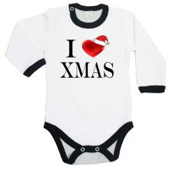 """Бебешко боди Коледа Merry Christmas """"I Love Christmas"""""""