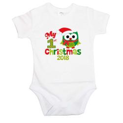 Бебешко боди Merry Christmas 2016 Owl