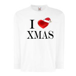 Детска тениска Коледа I Love XMAS