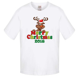 Детска тениска Коледа Merry Christmas 2018 DEER 1