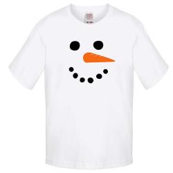 Детска тениска Коледа snowman face