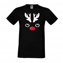 Мъжка тениска Коледа DEER FACE