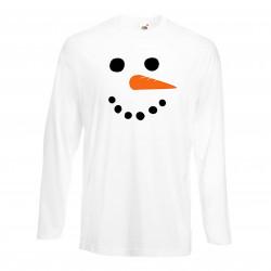 Мъжка тениска Коледа snowman face