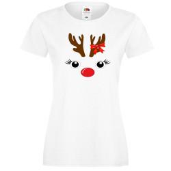 Дамска тениска Коледа DEER FACE LADY