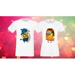 Комплект тениски за влюбени Minions love couple 1