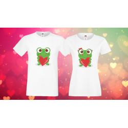 Комплект тениски за влюбени Жабки love frogs couple