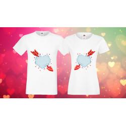 Комплект тениски за влюбени Arrow hearts сърца