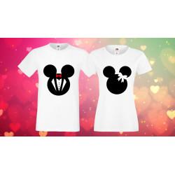 Комплект тениски за влюбени Mickey Minnie mouse heads