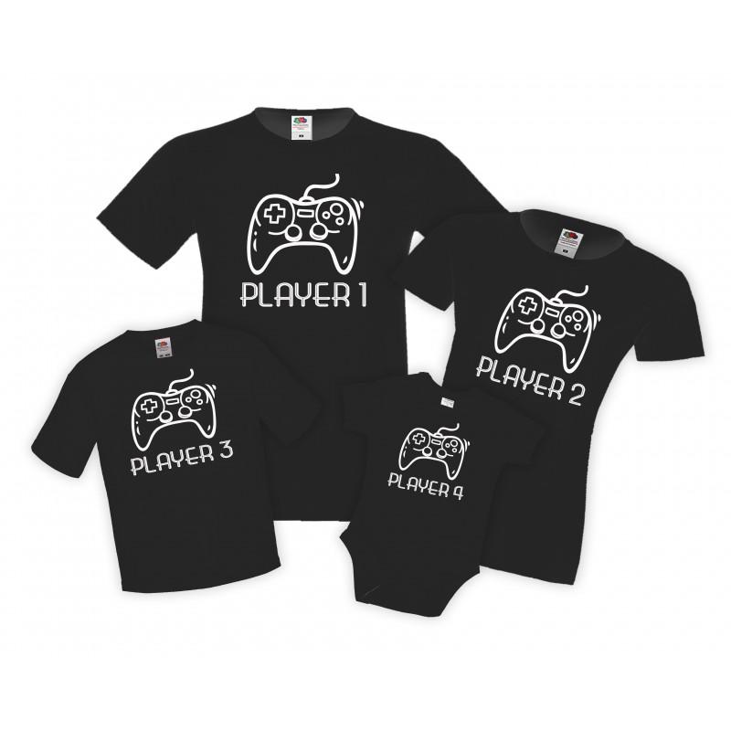 Семеен Коледен комплект тениски Deer face Christmas family set