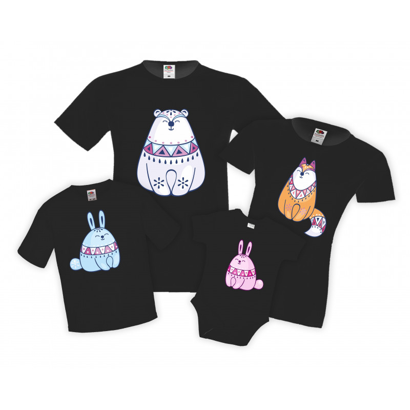 Семеенкомплект тениски Диви животни Wild animals