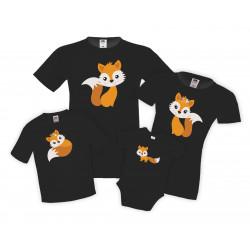 Семеенкомплект тениски Лисици Fox family