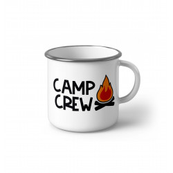 "Метално Емайлирано канче ""Camp Crew fire"""