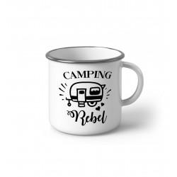 """Метално Емайлирано канче """"Camping Rebel"""""""