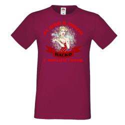 Мъжка тениска За Вино и Любов Наско е винаги готов