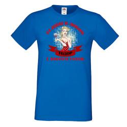 Мъжка тениска За Вино и любов ТОДОР е винаги готов ЗИМА