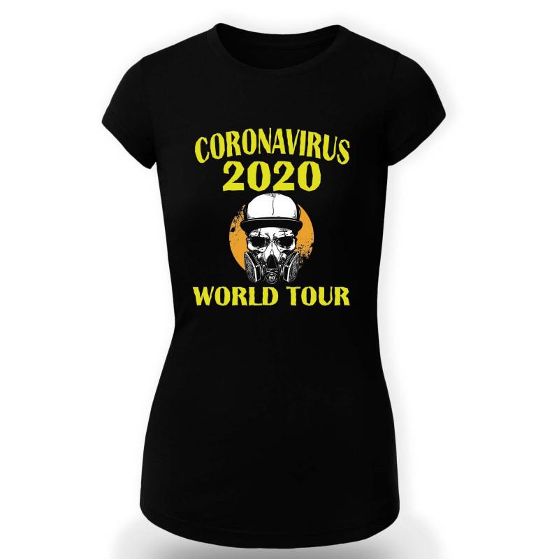 Дамска тениска Корона вирус corona virus COVID-19 003