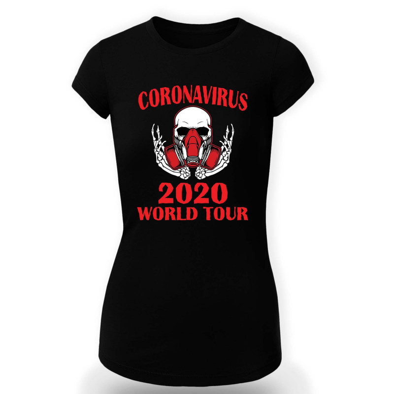 Дамска тениска Корона вирус corona virus COVID-19 007