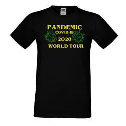 Мъжка тениска Корона вирус covid-19 2020 world tour 013