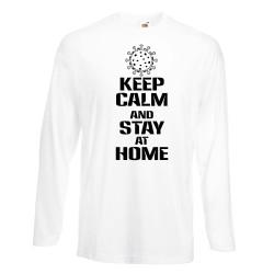 Мъжка тениска Корона вирус Keep Calm and Stay at Home 016
