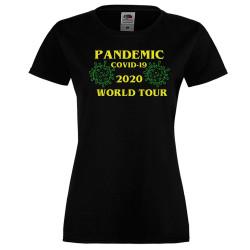 Дамска тениска Корона вирус covid-19 2020 world tour 013