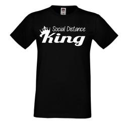 Мъжка тениска Корона вирус corona virus COVID-19 Social Distance KING