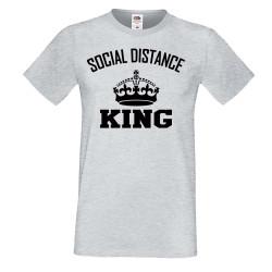 Мъжка тениска Корона вирус corona virus COVID-19 Social Distance KING 3