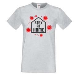 Мъжка тениска Корона вирус corona virus COVID-19 Stay At Home