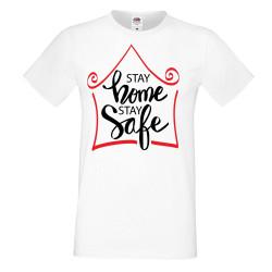 Мъжка тениска Корона вирус corona virus COVID-19 Stay Home Stay Safe