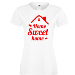 Дамска тениска Корона вирус corona virus COVID-19 Home Sweet Home