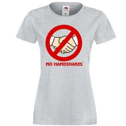 Дамска тениска Корона вирус corona virus COVID-19 No Handshakes