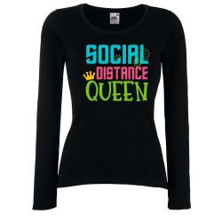 Дамска тениска Корона вирус corona virus COVID-19 Social Distance QUEEN 2
