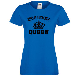 Дамска тениска Корона вирус corona virus COVID-19 Social Distance Queen 3