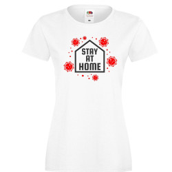 Дамска тениска Корона вирус corona virus COVID-19 Stay At Home