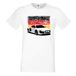 Мъжка тениска AUDI R8 German Flag
