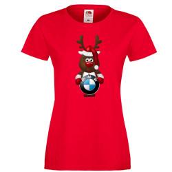 Дамска тениска BMW Christmas Reindeer