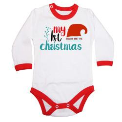 Бебешко боди Коледа My First Christmas + ИМЕ