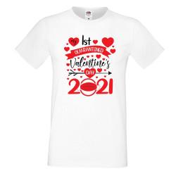 Мъжка тениска Свети Валентин 1st quarantined valentines day