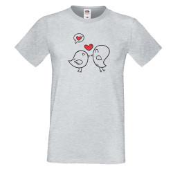 Мъжка тениска Свети Валентин Birds Hearts 1