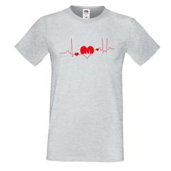 Мъжка тениска Свети Валентин Heartbeat