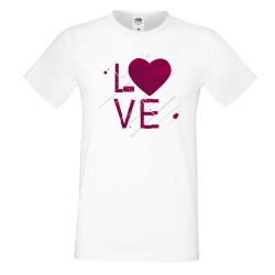 Мъжка тениска Свети Валентин Love Heart 2