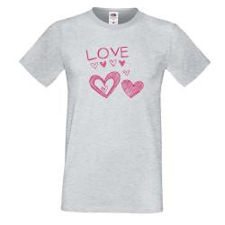 Мъжка тениска Свети Валентин Love Heart 3
