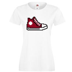 Дамска тениска 8 bit shoe red