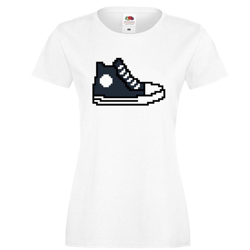 Дамска тениска 8 bit shoe navy