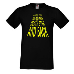 Мъжка тениска Star Wars I Love You To The Death Star