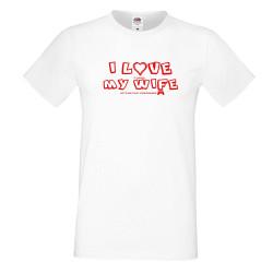 Мъжка тениска Свети Валентин I Love My Wife