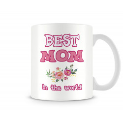"Чаша 8ми март ""BEST MOM IN THE WORLD flowers MUG"""